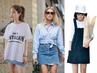 Gợi ý 5 cách phối đồ với chân váy jean, cô nàng nào cũng nên thử một lần